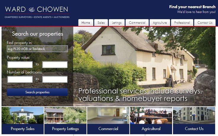 New website for Devon-based estate agents, Ward & Chowen