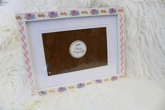 Hello Baby Girl Decorated Photo Picture Frame 4x6 Inches 10x15 Cms Mount Or Frame 6x8 Inches 15x20 Cms Unique Gift For Newborn Photo Girl Decor Photo Decor Hello Baby