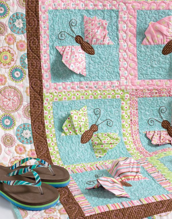 3-D Butterfly Quilt Pattern from Cute Quilts for Kids from Martingale