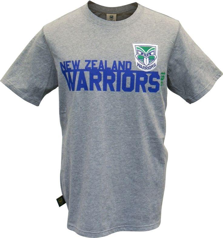 2014 Vodafone Warriors Grey Tee #WarriorsGear #WarriorsForever #NRL #Tee #Tshirt Go to www.warriorsstore.co.nz