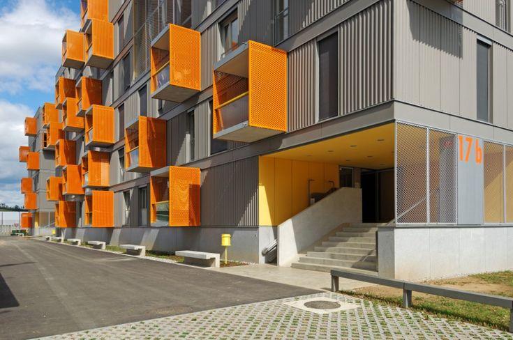 Fachada: Viviendas en Poljane - Bevk Perović arhitekti #Arquitectura