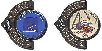 Sailing - Pictogram Mascots Spinning pin