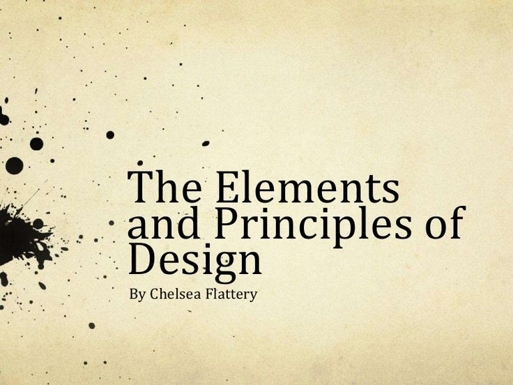 A very simple overview of the elements and principles of design. Created for EDU 290, Technology in Education......the-elements-and-principles-of-design by flatt1ce via Slideshare