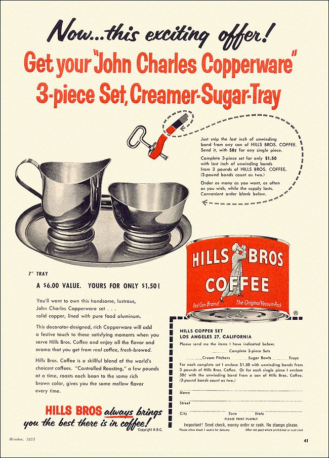 Hills Brothers Coffee Ad, 1955 | Flickr - Photo Sharing!