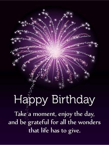 Enjoy the Day! Happy Birthday Card