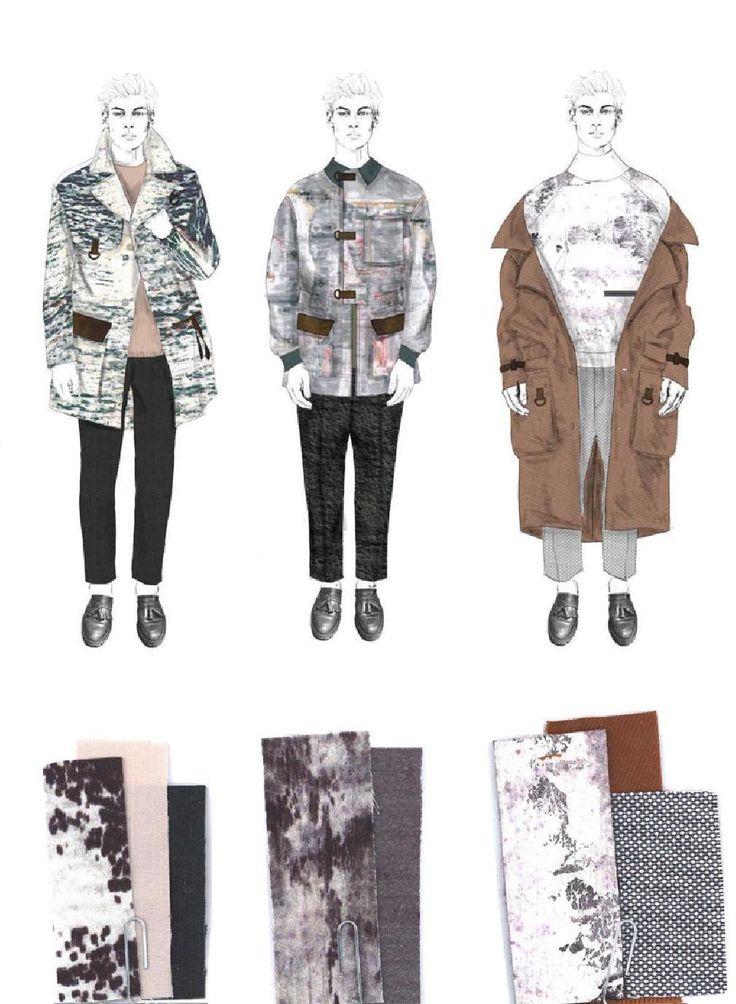 Fashion Sketchbook - fashion illustrations & textile samples; fashion portfolio // Robyn Priestley