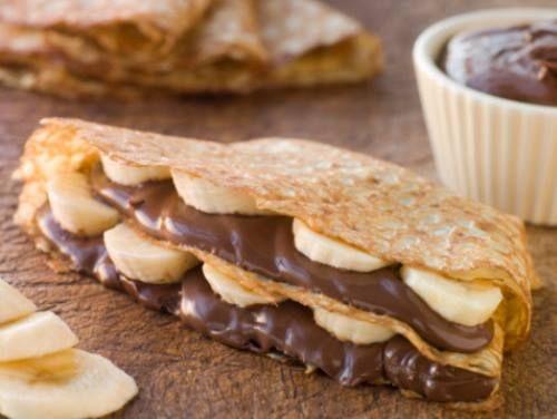 Crepe de banana e Nutella