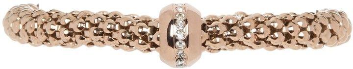 Meshmerise Swarovski Crystal Accented Bead Woven Mesh Bracelet