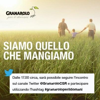 14 maggio 2013 ore 17 Presentazione della ricerca condotta da AstraRicerche sui cambiamenti delle abitudini di consumo alimentare degli italiani in tempo di crisi mette in luce le scelte degli italiani per cui il cibo non è solo un alimento ma un fattore centrale della qualità di vita.  @GranaroloCSR