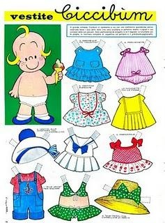 """""""Dressed Ciccibùm"""" Corriere dei Piccoli No. 22, 1964. I found it at last :-) I played for hrs with this paper doll :-)"""