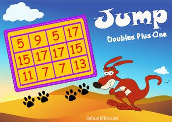 'DOUBLES PLUS ONE' IS AN ADDITION GAME FOR LEARNING NUMBER FACTS