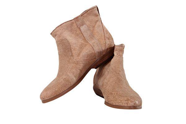Modern Vintage Brown Suede Booties, Size US8, Euro 38