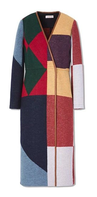 Racing form: Our eye-catching Cheval Coat features color-blocking inspired  by horse-jockey uniforms. A vibrant way to take cover, this runway style is  ...