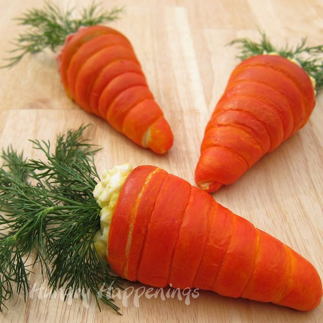 Hungry Happenings: Crescent Roll Carrots Filled with Egg or Ham Salad add a festive touch to Easter Brunch