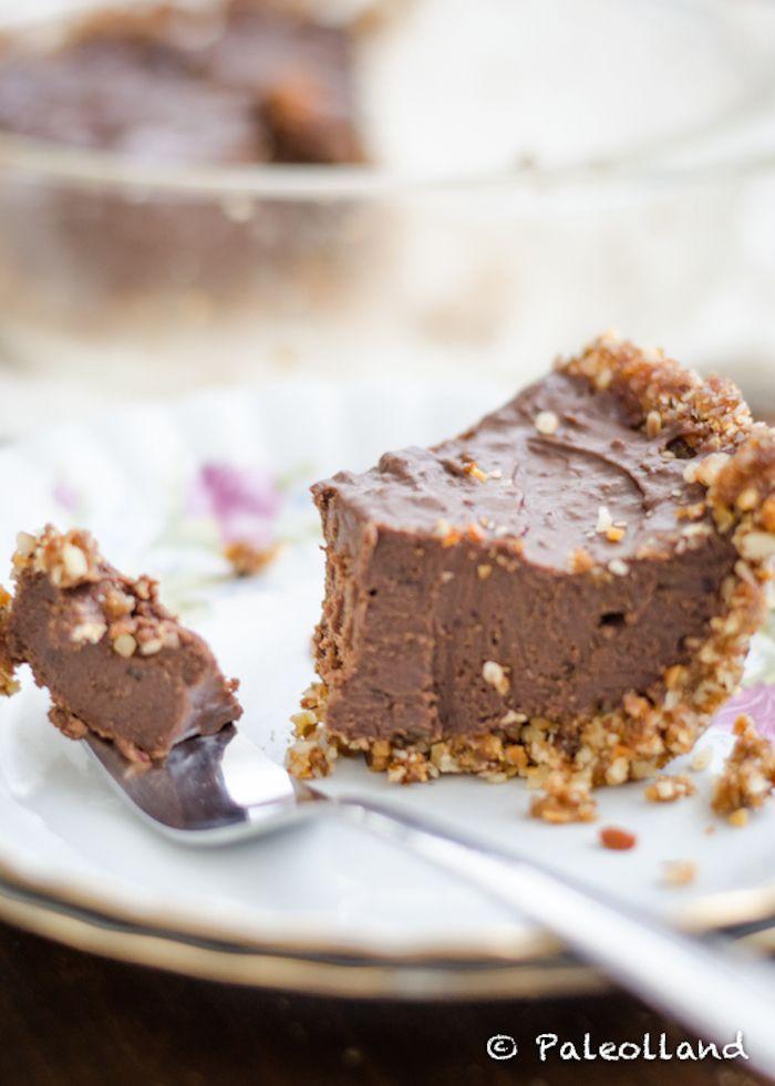 paleo chocoladetaart met een krokant korstje. Deze is heerlijk!!!!