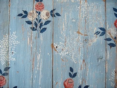 floral stencil wall art