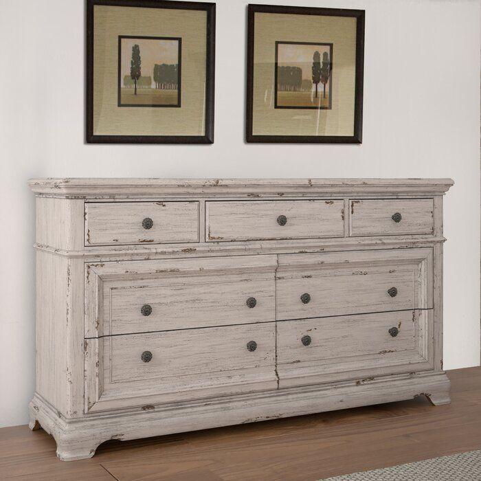 Rosalind Wheeler Ian 7 Drawer Dresser 7 Drawer Dresser Dresser Drawers Dresser