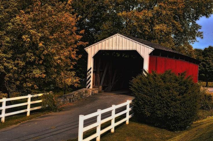 The Amish village covered bridge. Photograph  - The Amish village covered bridge. Fine Art Print