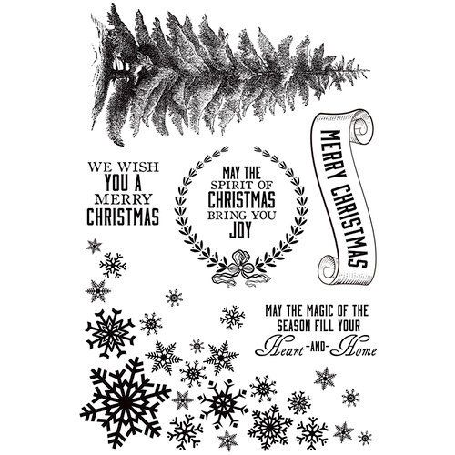 Frosted Christmas Stamp Set - Ninabrook Paper Crafting