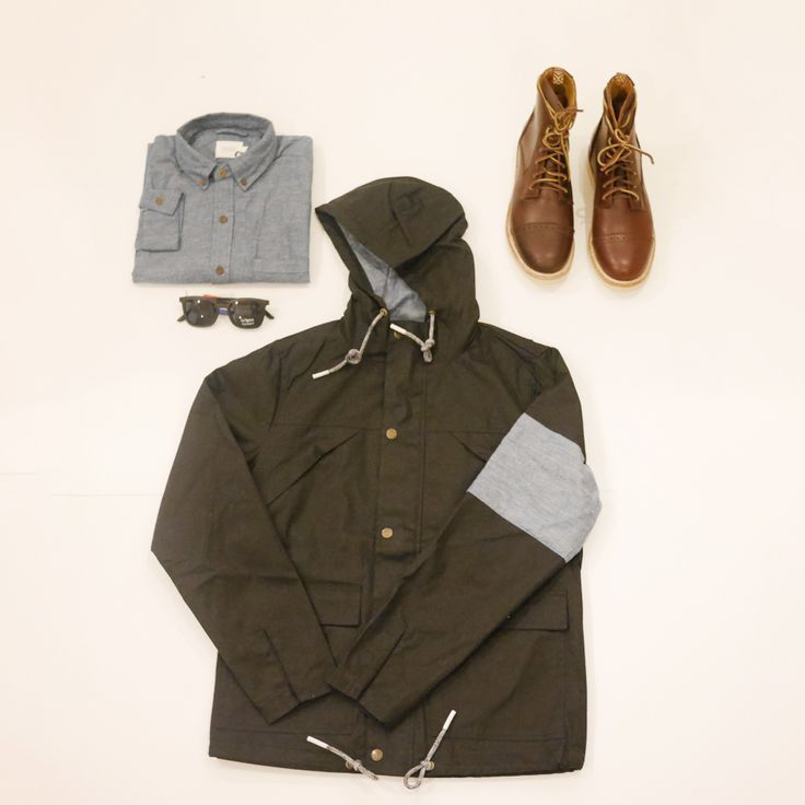 New in urban classics ready for Spring!!  Unmarked Logger boot handmade in Mexico Le Specs Easy Cowboy sunglasses Vanishing Elephant utility anorak Vanishing Elephant speckled chambray long sleeve shirt  Shop online: http://store.aquirkoffate.com