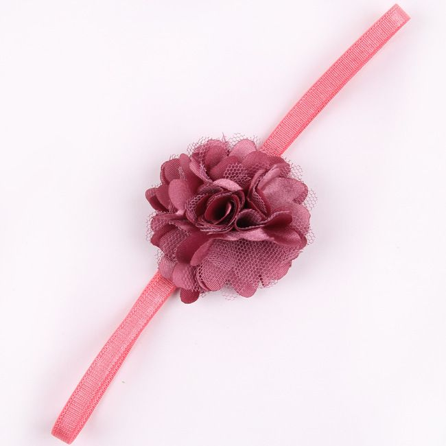Chiffon Flower hairband Hair Accessories Baby Girls Lace Headband Baby  Infant girl Hair Weave band childern hair clips (17)