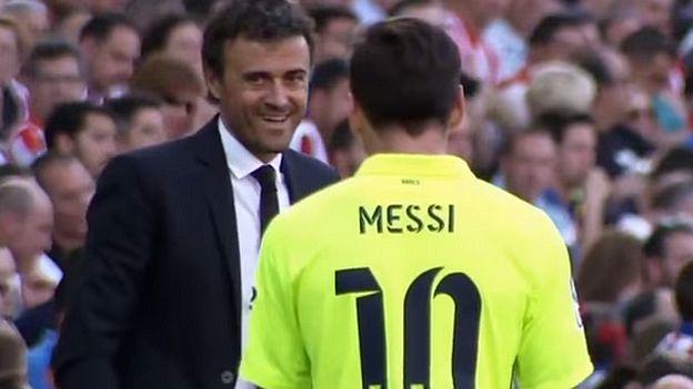 Lionel Messi y Luis Enrique bromearon sobre el Real Madrid vs. Espanyol