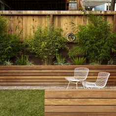 how to make a raised flower bed against a fence - Google Search