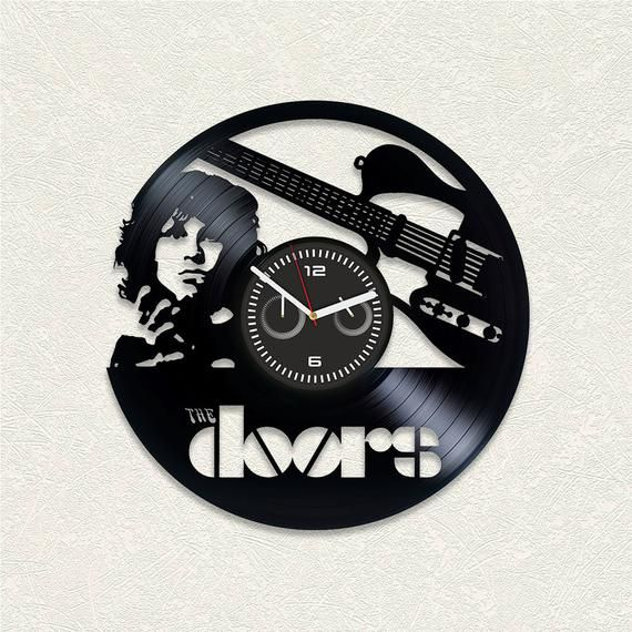 The Doors Vinyl Wall Clock Gift For Man Wall Clock Vintage The Doors Gift