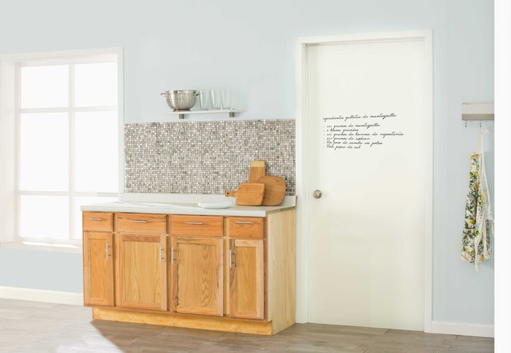 Puerta pizarrón, ideal para cocinas o para recámaras infantiles. 90x213cm.