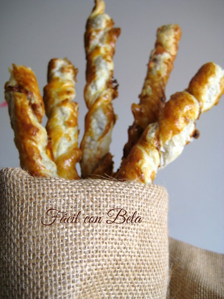 Espirales de hojaldre con beicon y queso | Comparterecetas.com