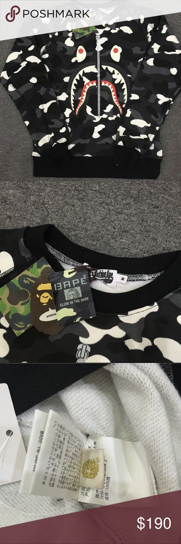 BAPE SWEATER New BAPE SWEATER. Please Note this item is a special Request shipping is 7-10 Business days. BAPE Sweaters