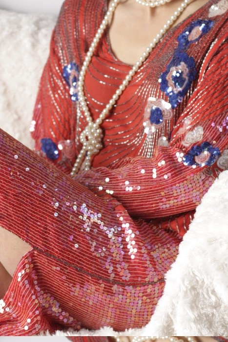 Foto van een van de jaren 20 jurken van Rosa