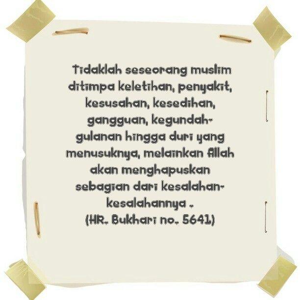 Untuk saudara2 ku yang sedang ditimpa #musibah, #sakit, #kesedihan, #galau, renungkam #hadits berikut : . . . http://isparmo.web.id
