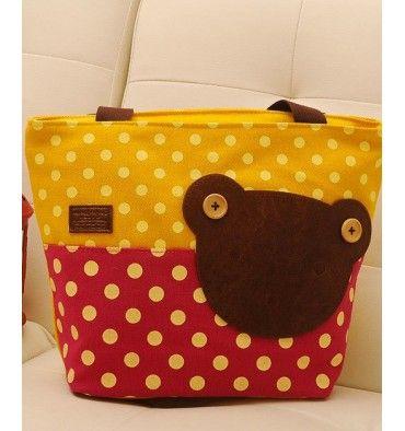 Momoailey Shoulder Bag - Pink Yellow - sadinashop.com
