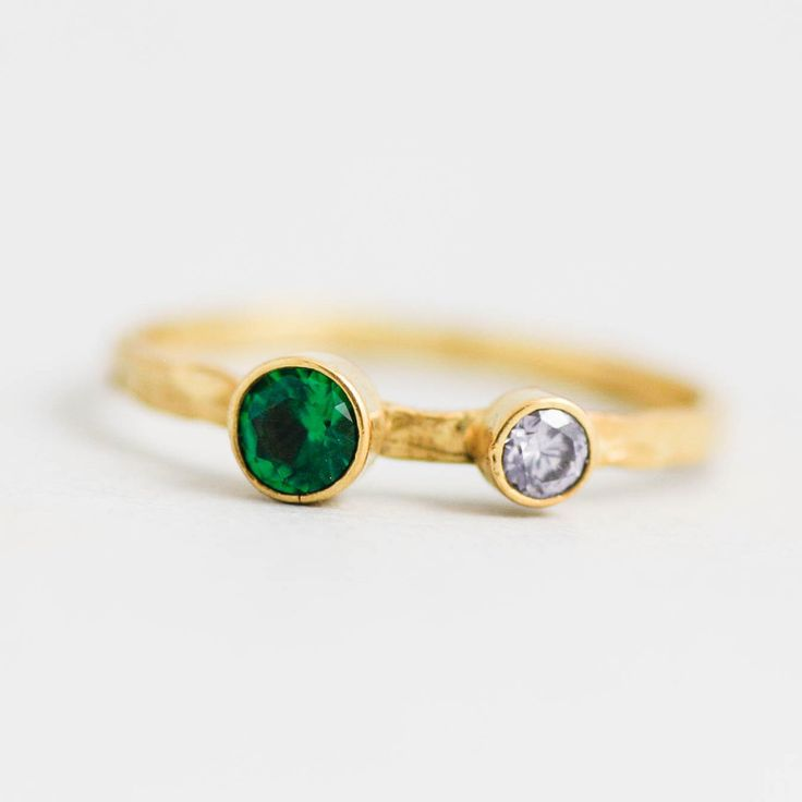DOUBLE BIRTHSTONE RING