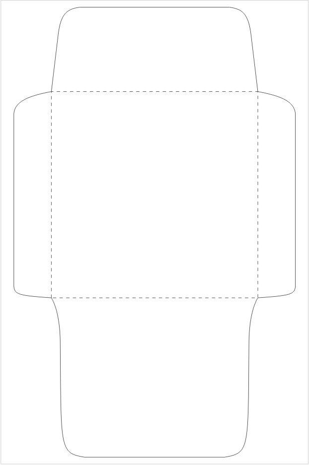 printable cute envelope template diy pinterest. Black Bedroom Furniture Sets. Home Design Ideas