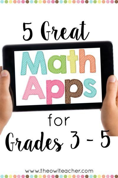 Looking for an engaging way to reinforce your math concepts and use technology in your math class? Check out this blog post where I share five different math apps you can use in your elementary classroom for grades 3-5!