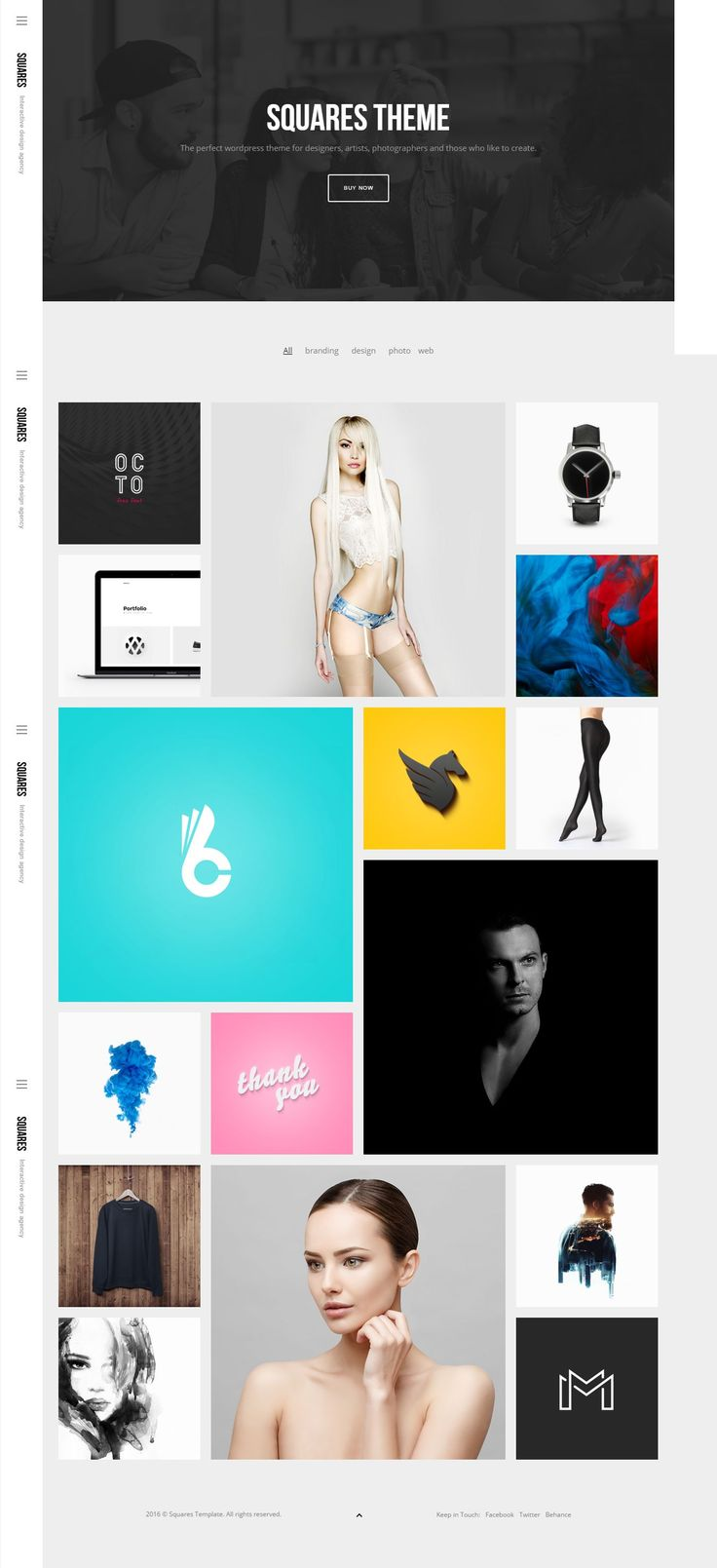 The perfect WordPress theme for designers, artists, photographers and those who like to create. #Portfolio #Website #Template
