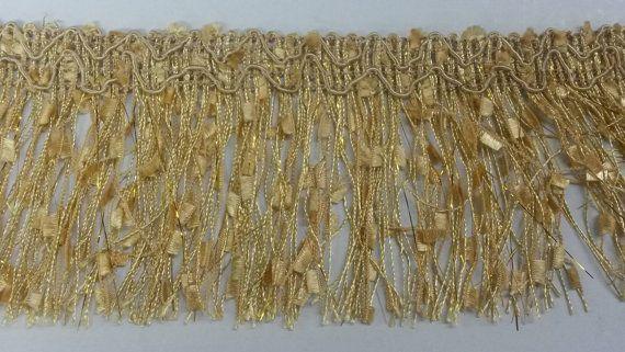 1 Yard Metallic Embroidered Fan Shaped Trim for Cushion Curtain Home Decor