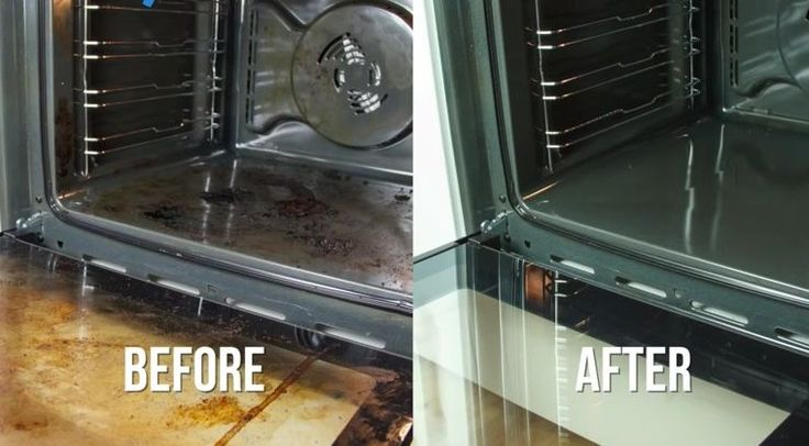 Baking Soda-Water-Vinegar Oven Cleaner - all you need for a sparkling oven with practically no effort.