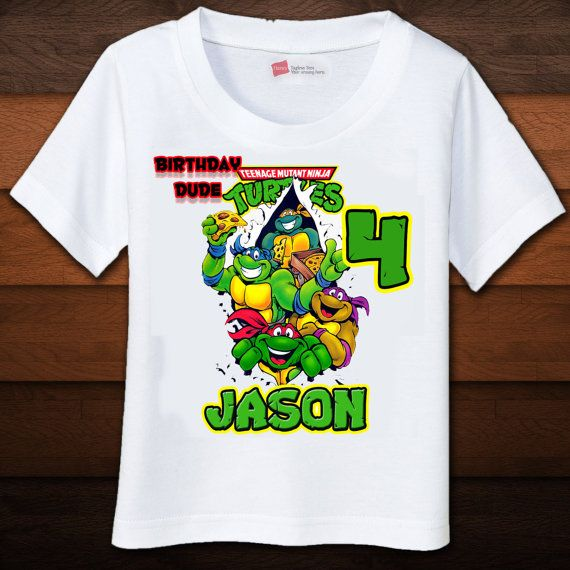 Tmnt Birthday Shirt On Etsy You Can Add The Childs Name