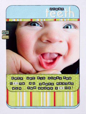 babyFirst Teeth Scrapbook Ideas, Baby Scrapbook Ideas, Baby Milestones, Baby Scrapbook Layout, Flip Book, Scrapbook Baby, Baby Book, Scrap Book, Scrapbooking Layouts