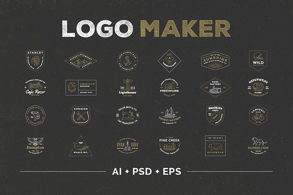 Logo Maker by Victor Barac on @creativemarket