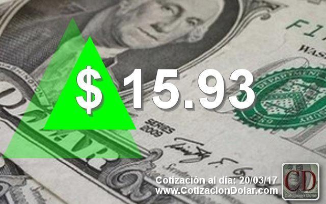 El dólar comenzó la semana en alza a $15,93