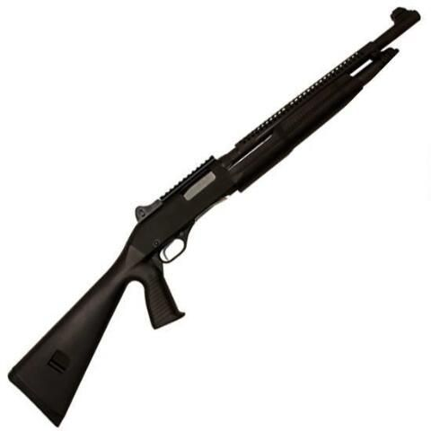 "Savage Arms Stevens 320 Pump Action Shotgun 12 Gauge 18.5"" Barrel 3"" Chamber 5 Rounds Synthetic Stock with Heat Shields Matte Black Finish 1915 - 19615 - 011356196156"