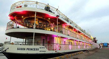 Boat restaurant in Ho Chi Minh City in Vietnam