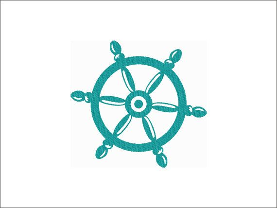 Boat Steering Wheel Digital Design for Machine Embroidery file