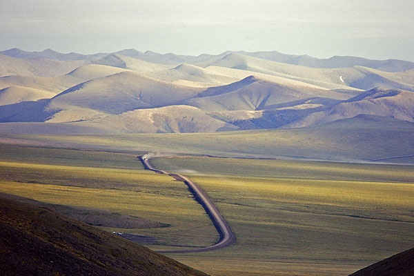 Dempster Highway through the Yukon to the Arctic Circle