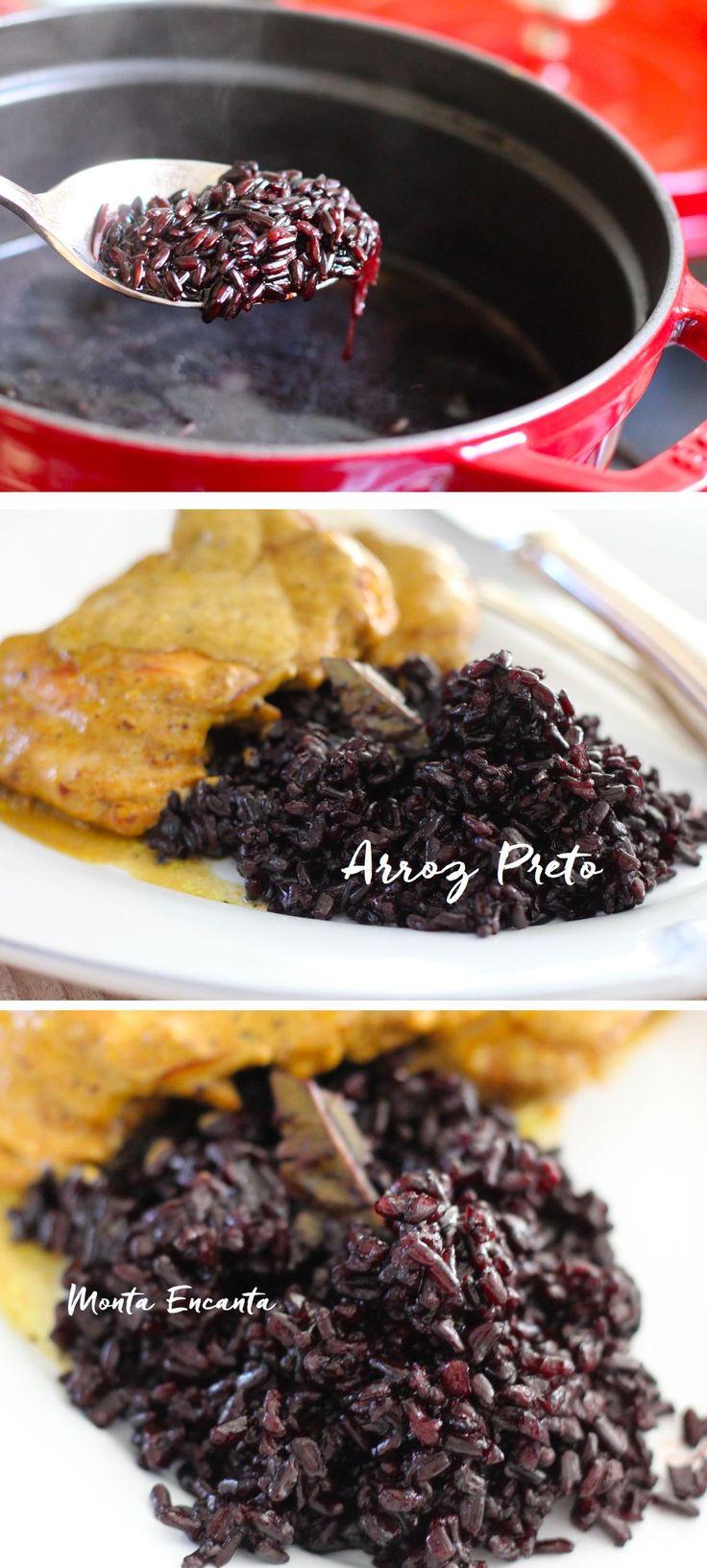 Como fazer Arroz Preto sem segredo! Pensando em variar o menu? Vai de arroz preto, pretinho básico que de básico não tem nada! Seu sabor é marcante, sua cor exuberante …