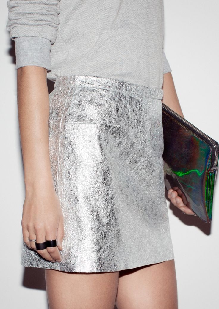 17 Best ideas about Silver Skirt on Pinterest | Grey outfit ...